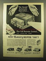 1961 Sawyer's 500 T Slide Projector Ad - No Hands