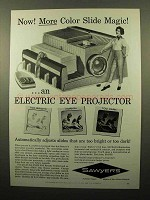 1961 Sawyer's Slide Projector Ad - More Magic