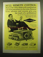 1961 Sawyer's 500 R Slide Projector Ad - Remote Control