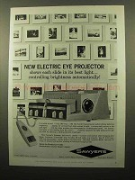 1961 Sawyer's Slide Projector Ad - Electric Eye