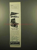 1961 Optika IIa Camera Ad - Most Versatile Reflex