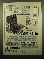 1961 Optika IIa Camera Ad - Unlimited