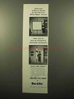 1961 Da-Lite Decorator Pole Screen Ad - Slides Movies