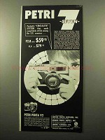 1961 Petri 7 Camera Ad - Fantastic Circle-Eye System