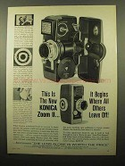 1961 Konica Zoom II Movie Camera Ad - It Begins