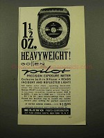 1961 Gossen Pilot Meter Ad - Heavyweight!