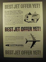 1960 Lufthansa Airlines Ad - Best Jet Offer Yet!