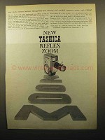 1960 Yashica 8E Movie Camera Ad - Reflex Zoom