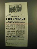 1960 Auto Optika 35 Camera Ad - No Advance Lever