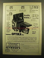 1960 Optika IIa Camera Ad - Versatility