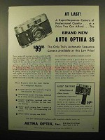 1960 Auto Optika 35 Camera Ad - At Last!