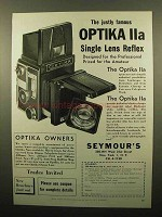 1960 Optika IIa Camera Ad - Justly Famous