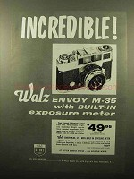 1960 Walz Envoy M-35 Camera Ad - Incredible!
