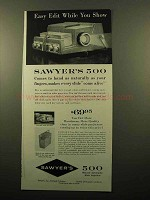 1960 Sawyer's 500 Projector Ad - Easy Edit While Show