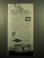 1960 Sawyer's 500 R Projector Ad - Full Remote Control