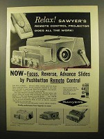 1960 Sawyer's 500 R Projector Ad - Remote Control