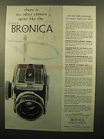 1960 Zenza Bronica Camera Ad - No Other Quite Like