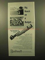 1960 Bushnell Spacemaster Telescope Lens System Ad