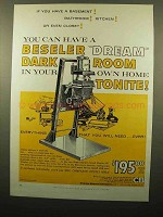 1960 Beseler 23C Enlarger Ad - Dream Dark Room