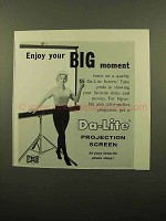 1960 Da-Lite Projection Screen Ad - Enjoy Big Moment