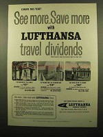 1959 Lufthansa Airlines Ad - See More Save More