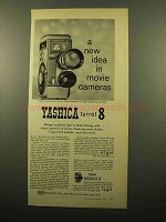 1959 Yashica Turret-8 Movie Camera Ad - A New Idea
