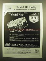 1959 Walz Envoy 35 Camera Ad - Symbol of Quality