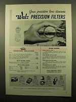 1959 Walz Precision Filters Ad - Your Lens Deserves