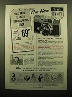 1959 Walz Envoy 35 Camera Ad - Not Typographical Error