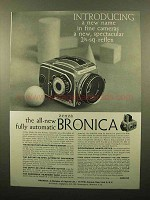 1959 Zenza Bronica Camera Ad - New Name in Cameras