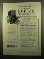 1959 Optika IIa Camera Ad - Invitation to Enjoy