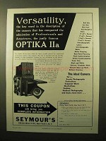 1959 Optika IIa Camera Ad - Versatility, The Key Word