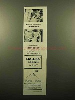 1959 Da-Lite Movie Screens Ad - Man Behind a Camera