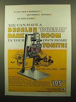 1959 Beseler 23C Enlarger Ad - If You Have a Basement