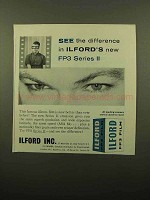 1959 Ilford FP3 Film Ad - See The Difference