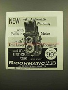 1959 Ricoh Ricohmatic 225 Camera Ad - Automatic Winding