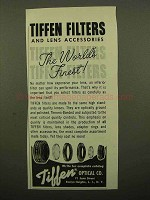 1959 Tiffen Filters and Lens Accessories Ad - Finest