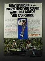 1980 Evinrude 7.5 Outboard Motor Ad - You Can Carry