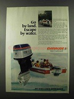 1977 Evinrude 175 Outboard Motor Ad - Escape by Water