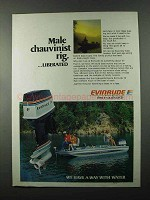 1977 Evinrude 75 Outboard Motor Ad - Male Chauvinist