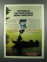 1976 Evinrude Sport 135 Outboard Motor Ad - First