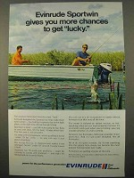 1971 Evinrude Sportwin Outboard Motor Ad - Get Lucky