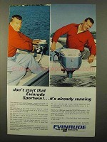 1966 Evinrude Sportwin Outboard Motor Ad - Running