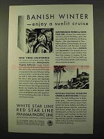 1929 IMM Cruise Ad - Banish Winter, Enjoy Sunlit Cruise