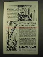 1929 IMM Cruise Ad - Winter Vacation? Of Course!
