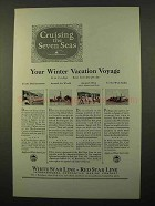 1927 IMM Cruise Ad - Cruising the Seven Seas