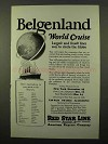 1925 IMM Cruise Ad - Belgenland World Cruise