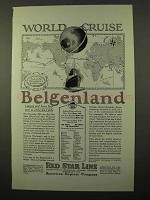 1925 IMM World Cruise Ad - Belgenland