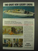 1958 Moore-McCormack Lines Ad - New Luxury Liners