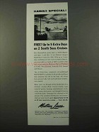 1960 Matson Lines Ad - Hawaii Special